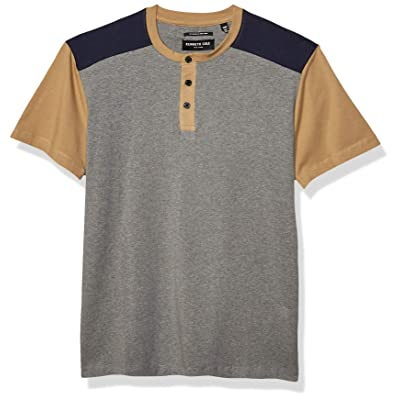 Kenneth Cole Men's Short Sleeve Color Block Henley at Men's Clothing store