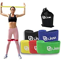 Limm Fabric Resistance Bands for Working Out - No-Slip Resistance Bands - Total Gym Workout Set of Elastic Bands for…