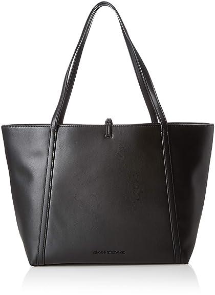 64dca1f4fd54 Armani Exchange Eco Leather Tote Bag, Women s Tote, Black (Nero), 28.0