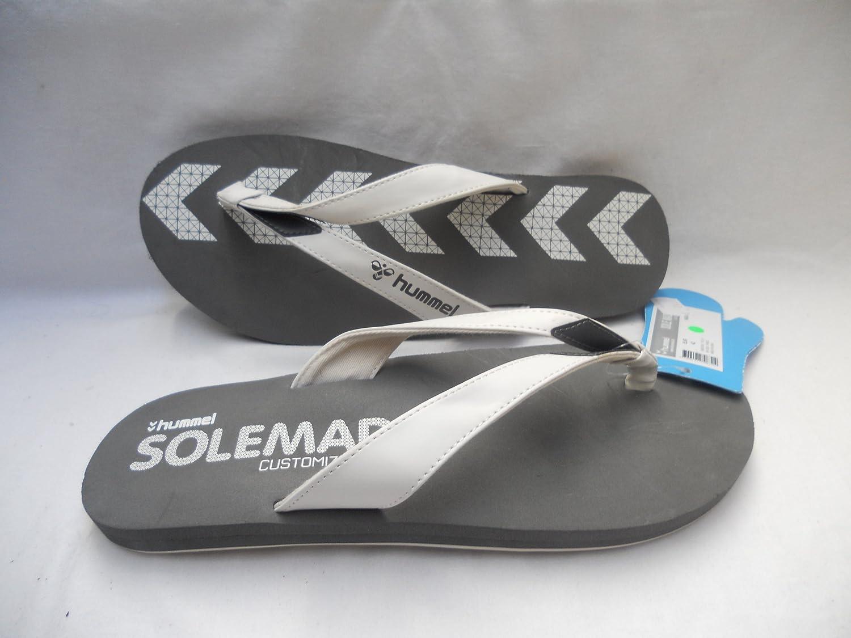 buy online 875ab 22c0a Flip Flop Hummel Anthrazit weiß Gr. 48: Amazon.de: Sport ...