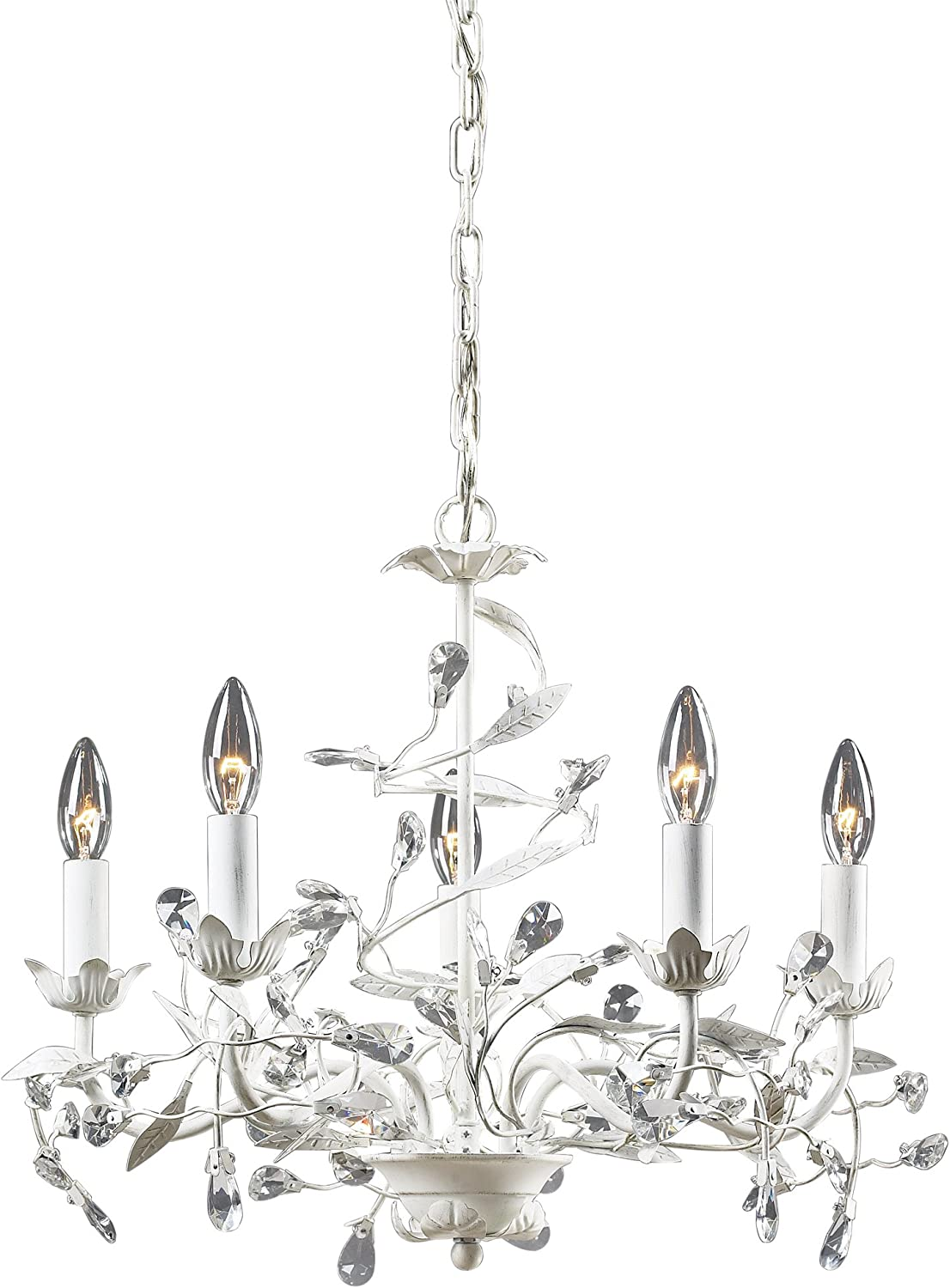 Elk Cheap super special price Lighting 18113 5 Circeo Chandelier Max 57% OFF Five White Light Antique