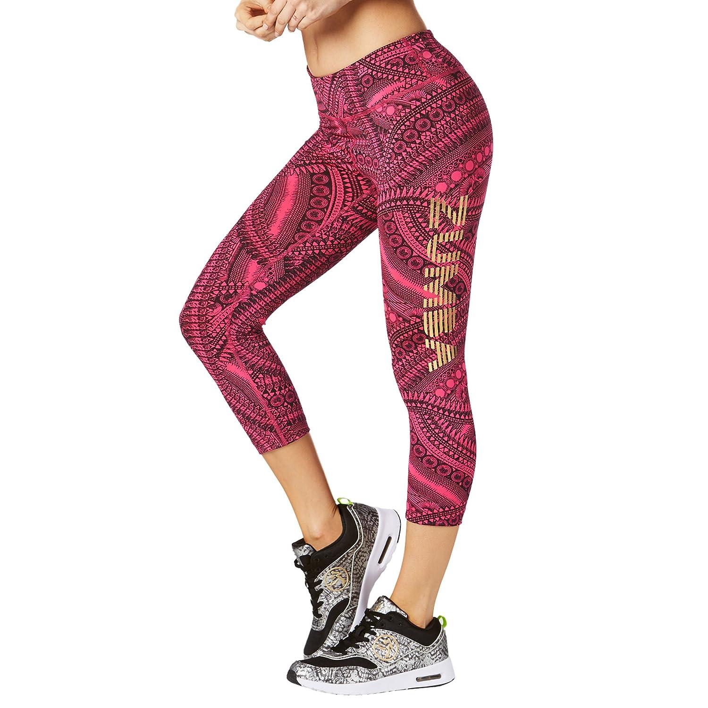 Zumba Fitness Day Capri Leggings, Pantaloni Donne Donna Z1B00624