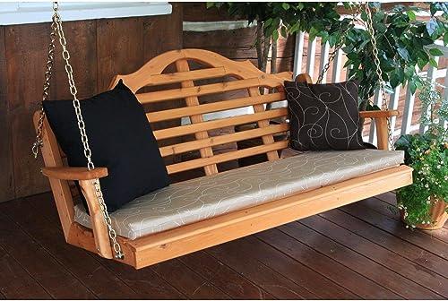 A L Furniture Co. Western Red Cedar 4 Marlboro Swing – Ships Free in 5-7 Business Days