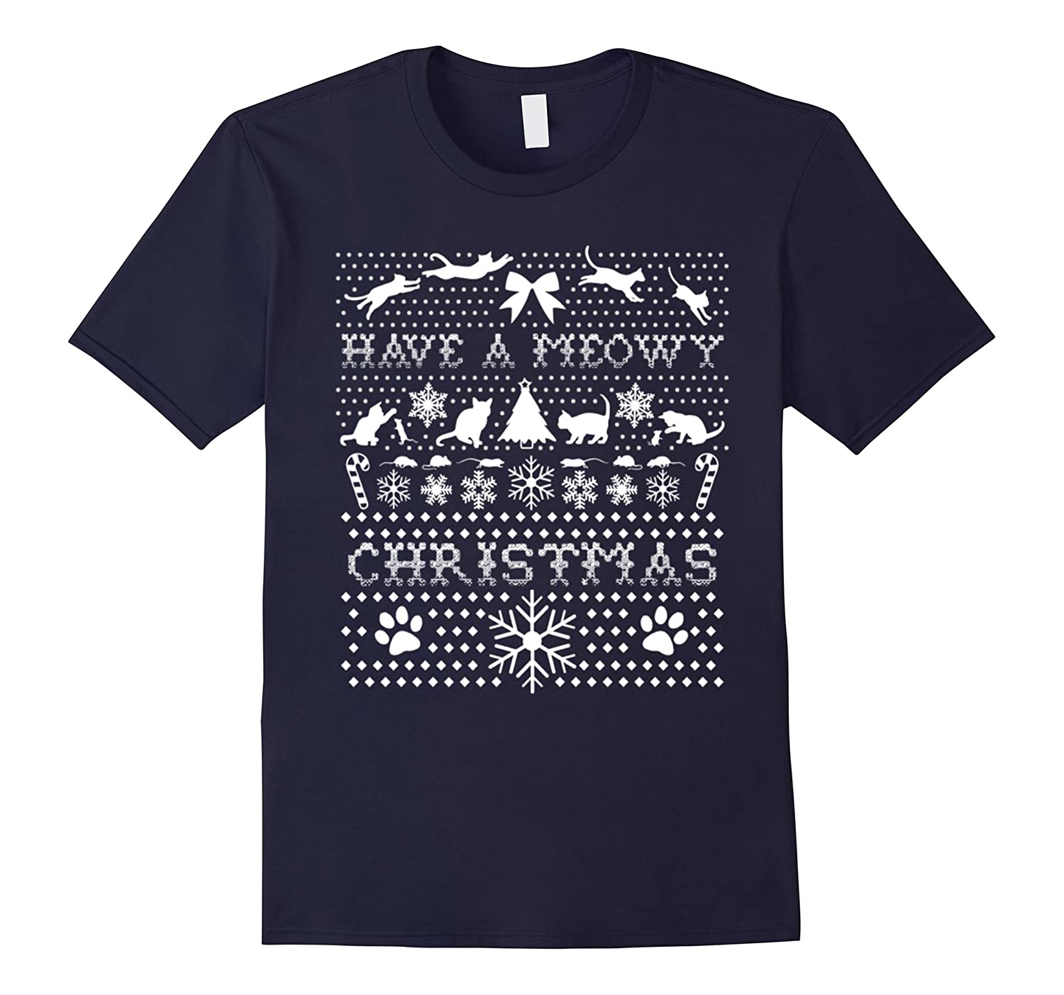 Have A Meowy Merry Chirstmas T-Shirt-azvn