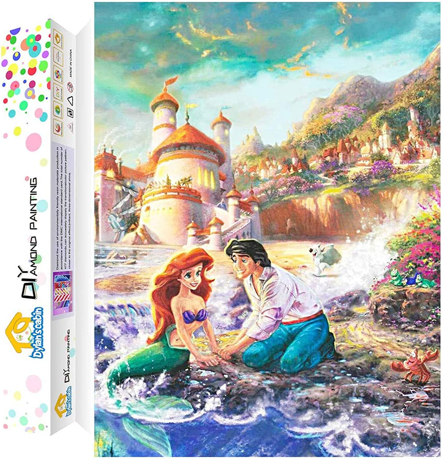 Dylan/'s Cabin DIY 5D Diamond Painting Kits for Adults,Full Drill Embroidery Paint with Diamond for Home Wall Decor(Princess//12x16inch