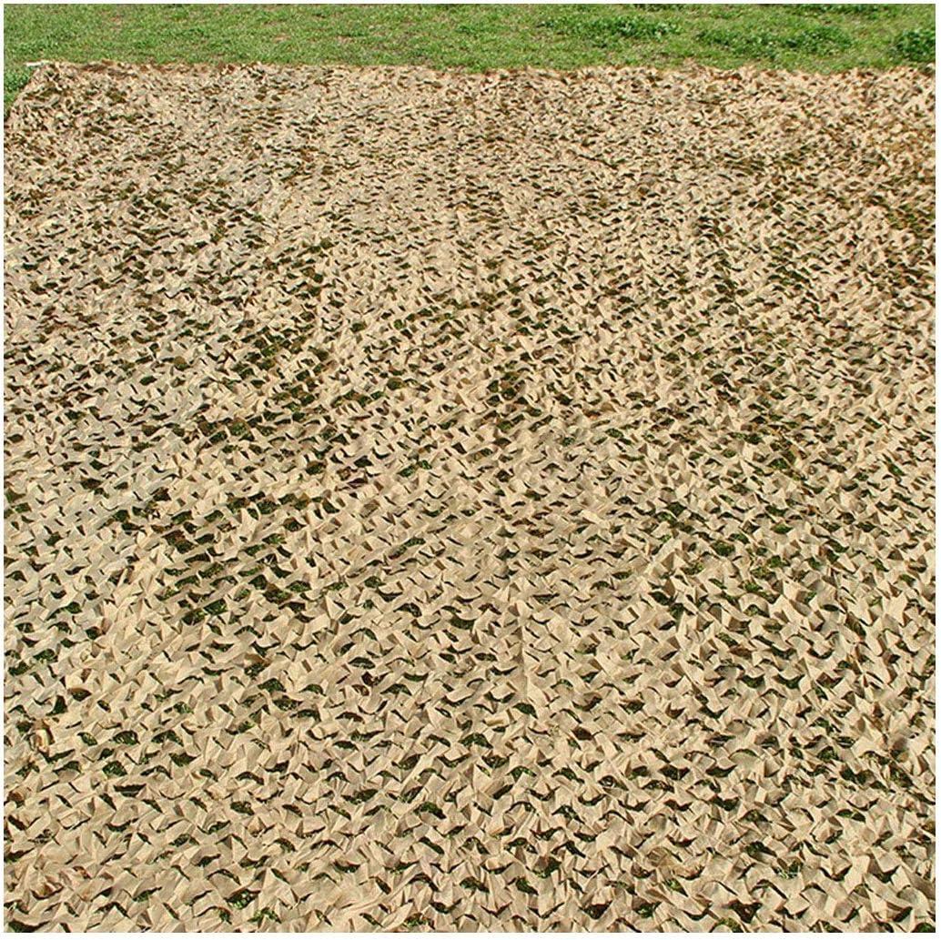 迷彩ネッティング砂漠、陸軍迷彩ネット6メートル8メートル10メートル日焼け止めメッシュシェードネッティング軽量用ガーデンテラスバルコニーパーゴラガゼボサンシェード装飾狩猟ブラインド撮影キャンプ写真 (Size : 6*6M)  6*6M