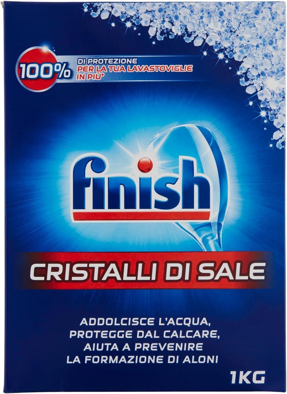 Finish - cristales de sal para lavavajillas, 1kg: Amazon.es: Salud ...