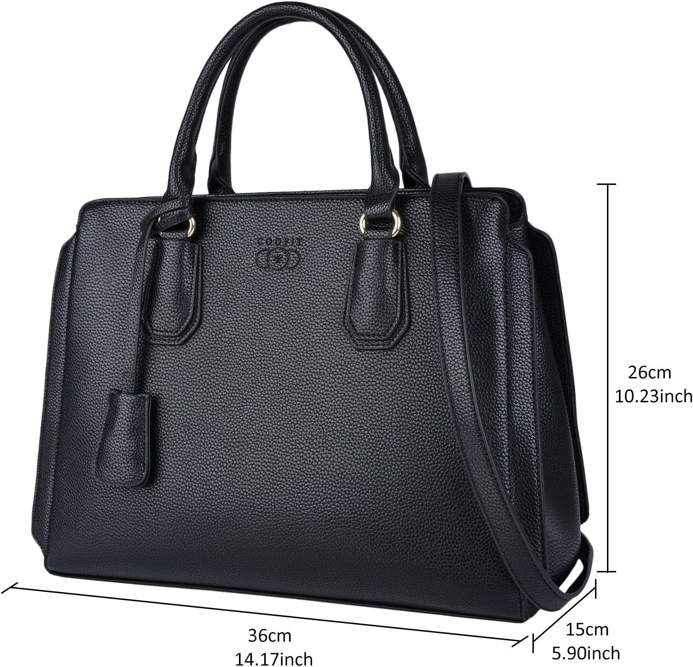 COOFIT Damen Handtasche Mode l/ässig Quaste Dekor Top Griff Tasche Crossbody Umh/ängetasche