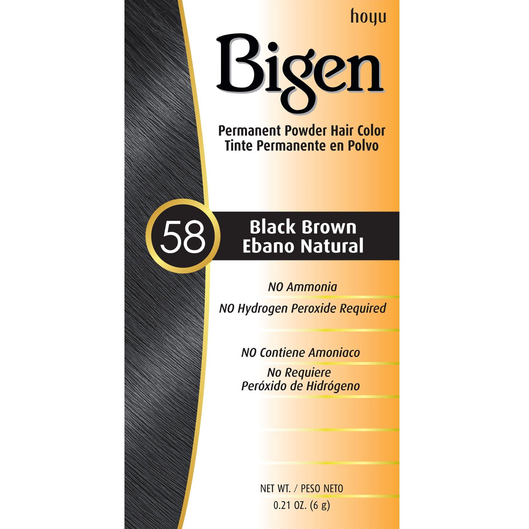 #58 Black Brown Bigen Permanent Powder - 12 Pack by Bigen