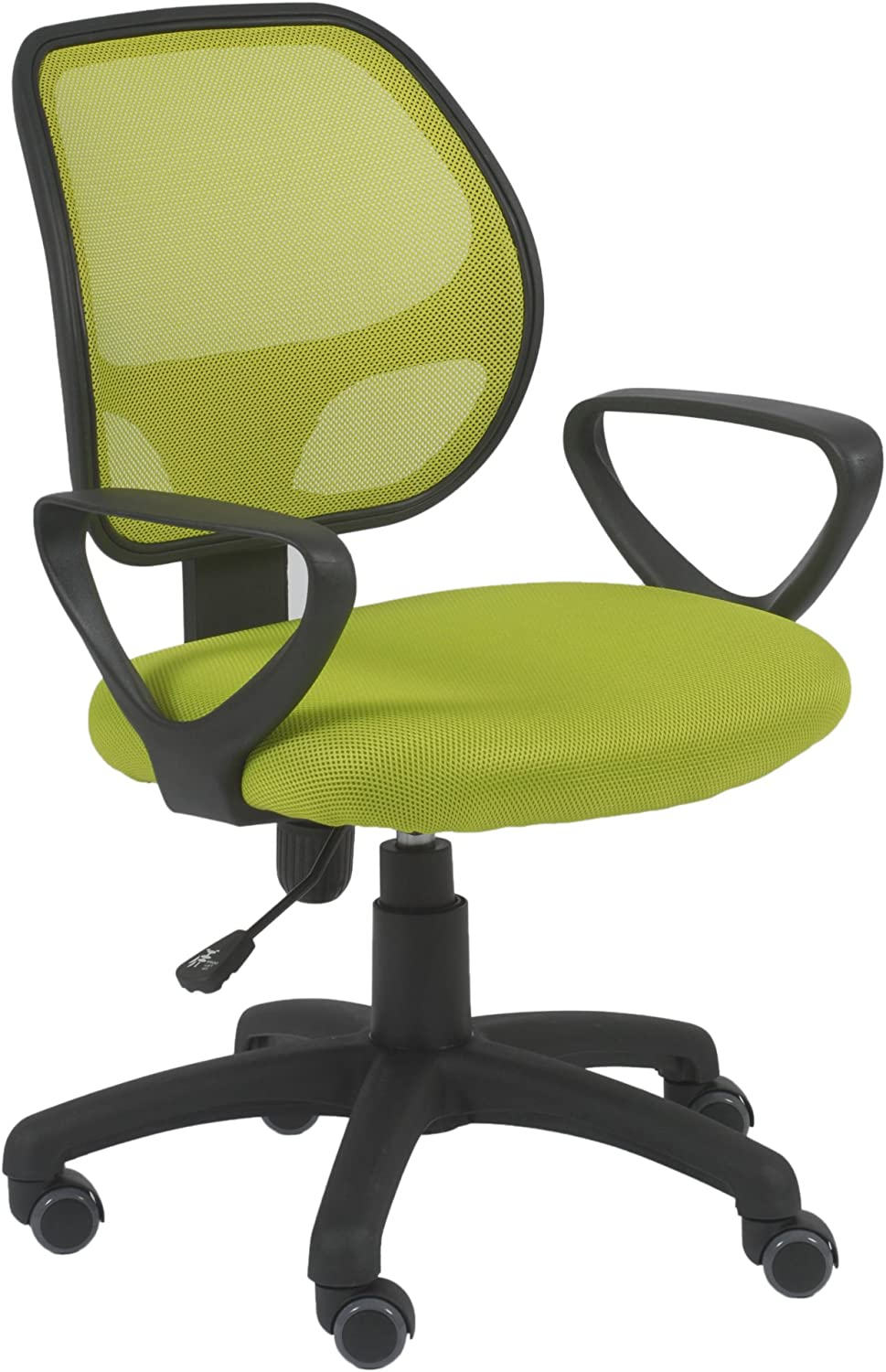 Amazon.com: Euro Style Percy Office Chair, Lime Green/Black