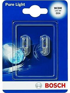 W3W Halogen Bulbs 2pcs 12V 3W W2,1x9,5d BOSCH PURE LIGHT 1987301028