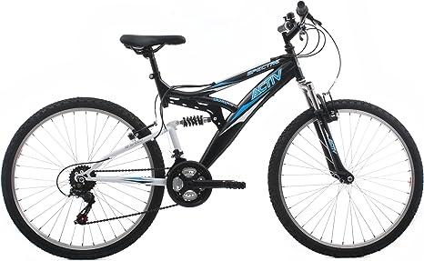 Raleigh SPE26MBK - Bicicleta Doble suspensión para Hombre, 18 in