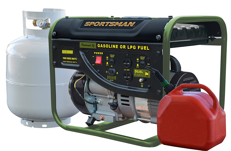 Sportsman GEN2000DF Dual Fuel Powered Portable Generator 1400 Running Watts//2000 Starting Watts