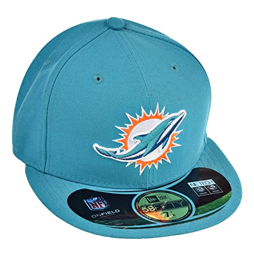 a6db61e411084 ... coupon code for amazon new era mens 59fifty nfl on field miami dolphins  cap sports outdoors