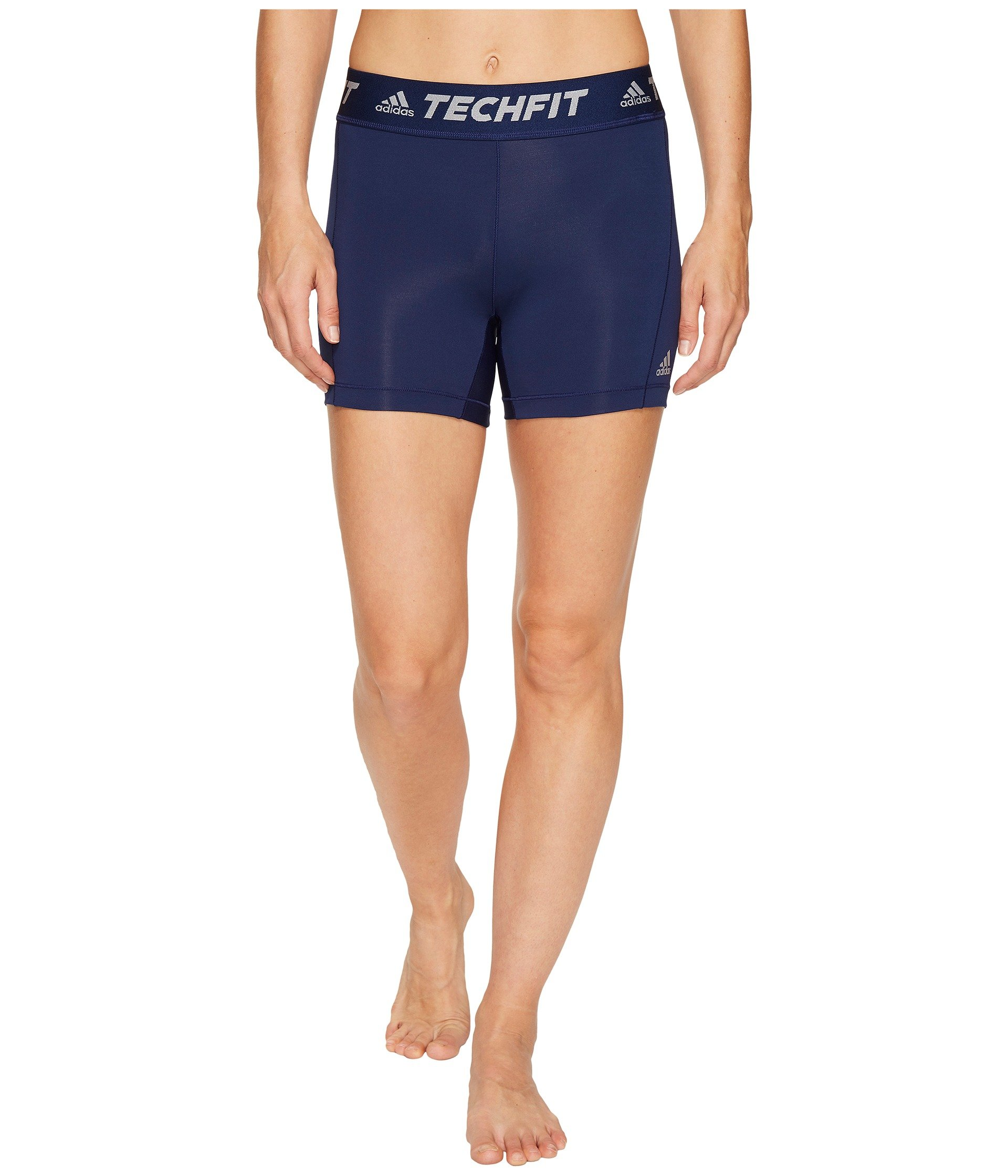 adidas Women's Soccer Techfit Base Short Tights, Dark Blue/White, XX-Small by adidas