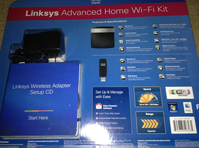 Linksys AC2400 4X4 Dual-Band Gigabit Wi-Fi Router E8400 Optimal for HD Video Streaming and Lag-Free Gaming