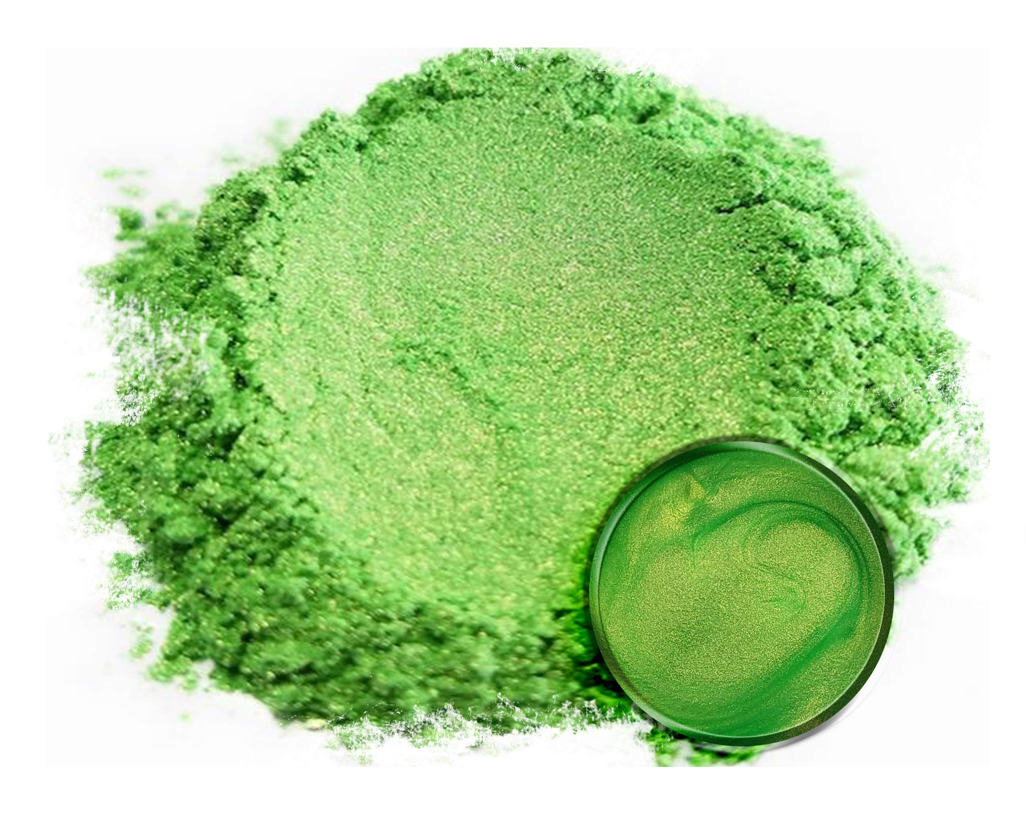 Eye Candy Mica Powder Pigment ''Jade Green'' (50g) Multipurpose DIY Arts and Crafts Additive | Woodworking, Epoxy, Resin, Natural Bath Bombs, Paint, Soap, Nail Polish, Lip Balm by Eye Candy