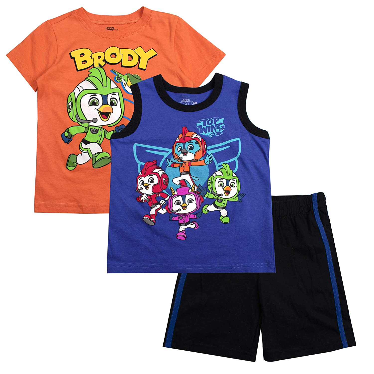 Nickelodeon Paw Patrol Little Boys Three-Piece Short Set