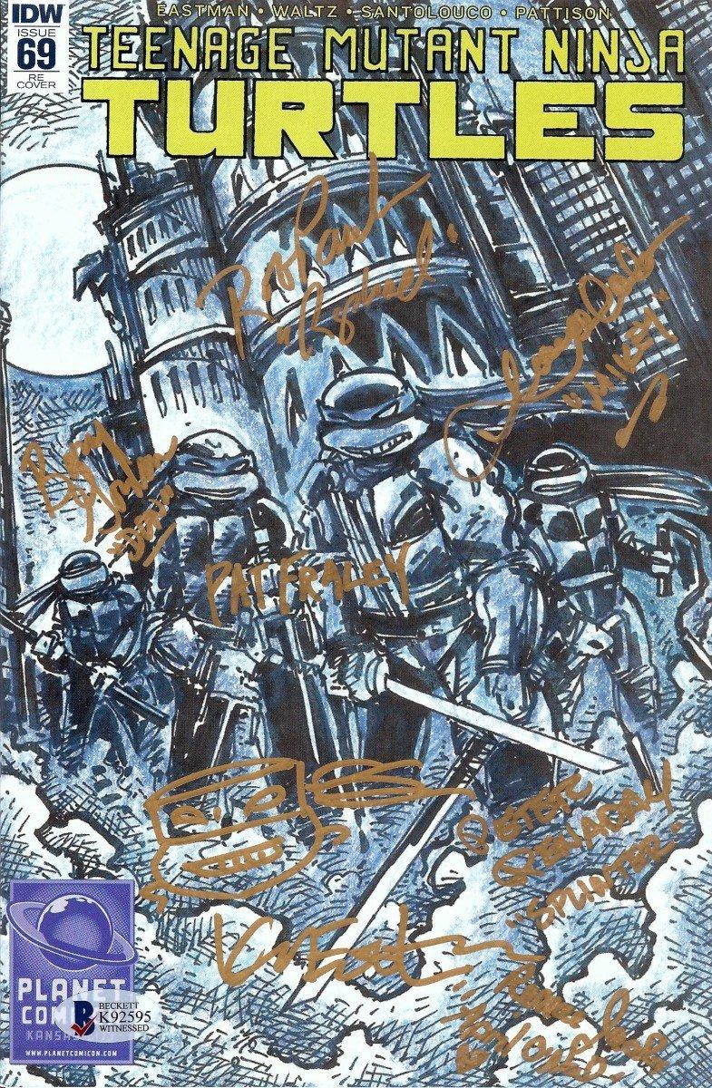 Teenage Mutant Ninja Turtles Cast Signed Comic Book 7 Autos ...
