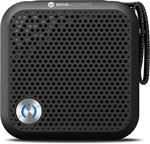 MuveAcoustics A-Plus Portable Bluetooth Speaker – Loudest Wireless Stereo Sound for Home and Travel with up to 7 Hours of Playtime, Black