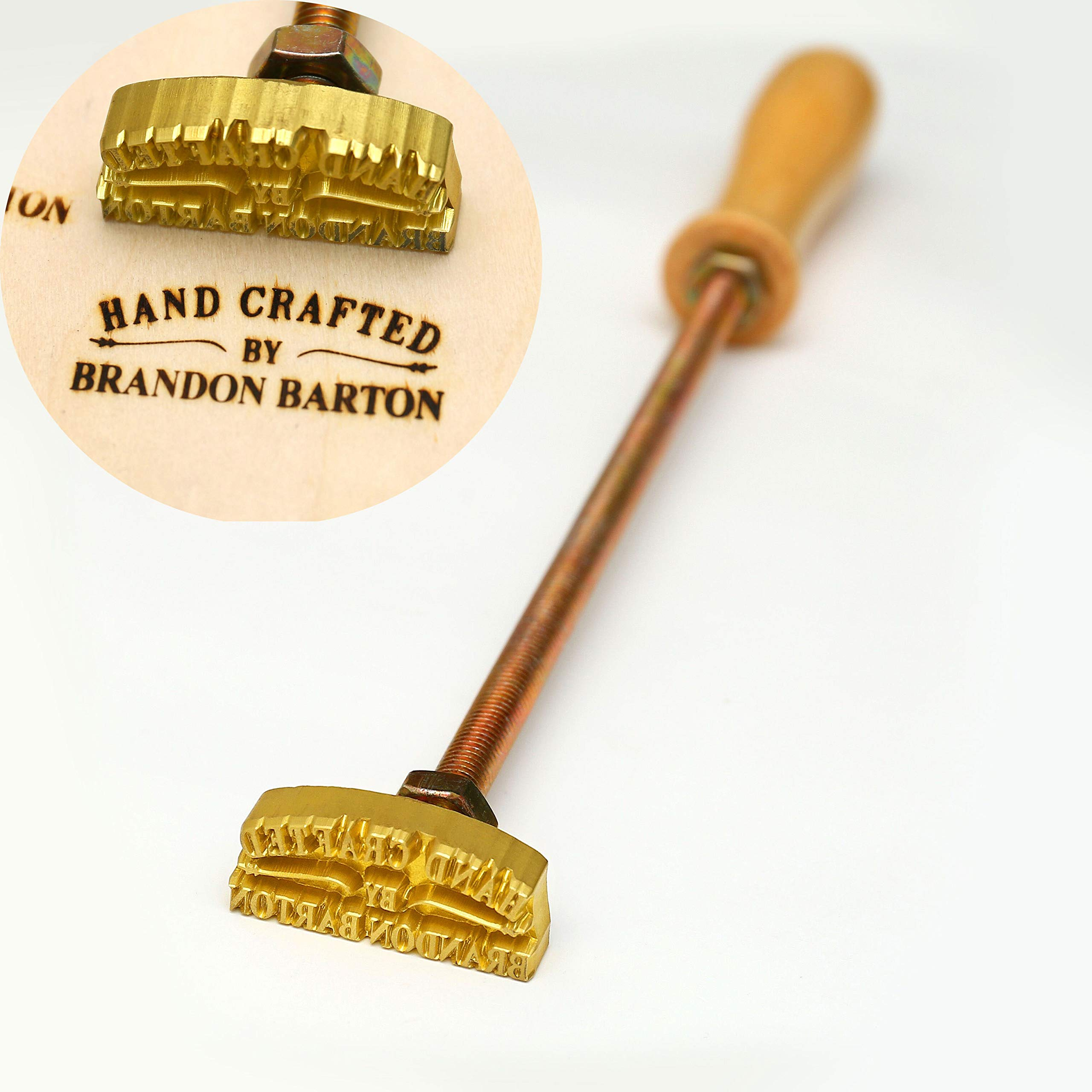 Custom Logo Wood Branding Iron,Durable Leather Branding Iron Stamp,Wood Branding Iron/Wedding Gift,Handcrafted by Design (2''x2'') by Generic