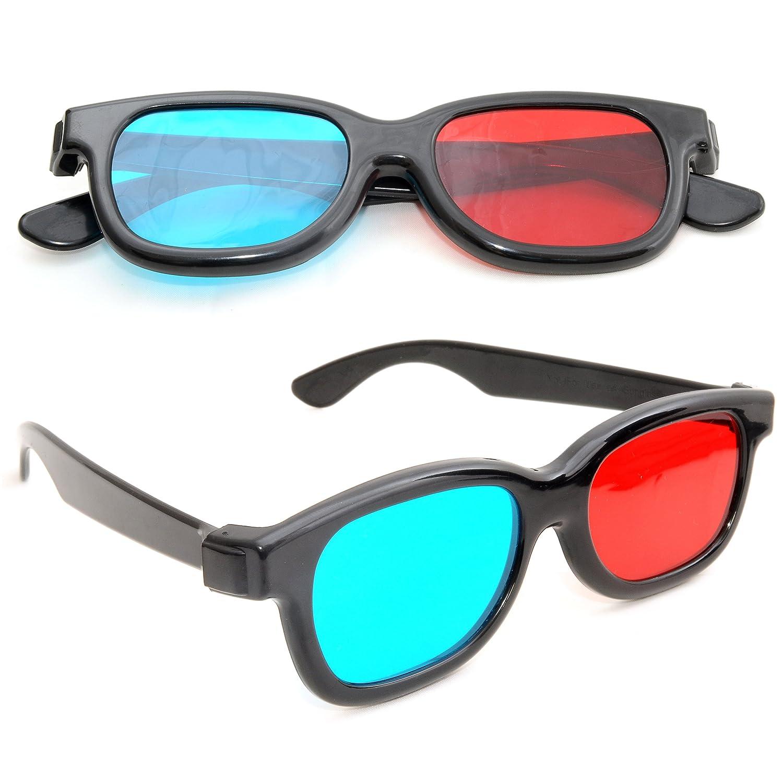Occhiali 3d per tv Occhiali 3d con tecnologia anaglyphen chiazzato Set di Occhiali 3d anaglifi per TV o PC Gaming rosso//blu