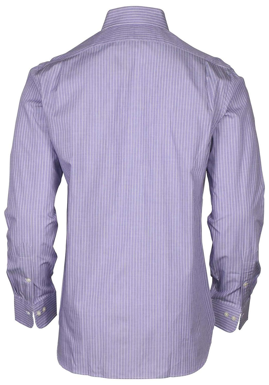 7f712e017 RALPH LAUREN Polo Mens Standard-Fit Striped Pony Logo Dress Shirt (Purple  Pin Stripe, 14.5 32/33) at Amazon Men's Clothing store: