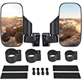 UTV Side View Mirrors with 1.75' to 2' Roll Bar Cage, Adjustable Rear View Side Mirror for Polaris RZR, Kawasaki Teryx…