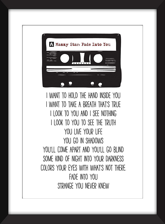 Mazzy Star Fade Into You Lyrics Unframed Print//Ungerahmter Druck