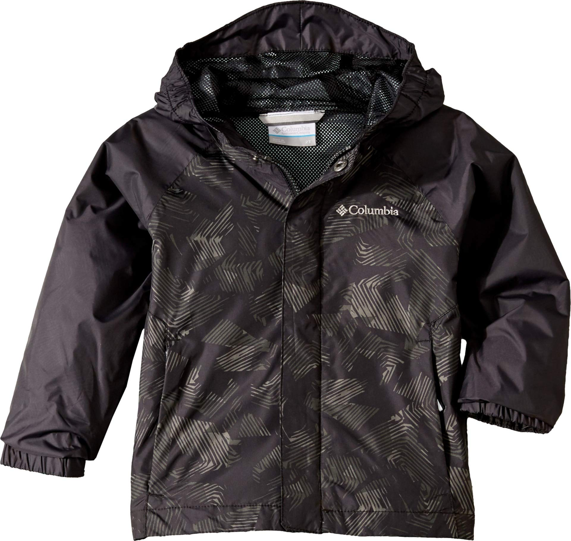 Columbia Kids Baby Boy's Fast and Curious¿ II Rain Jacket (Toddler) Black Texture 4T
