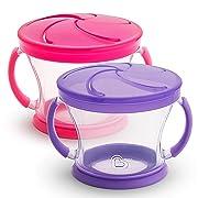 Munchkin Snack Catcher, 2 Pack, Pink/Purple