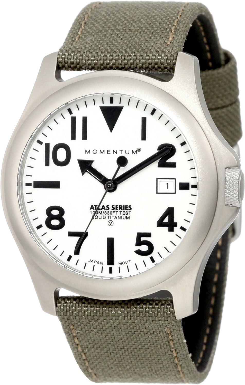 Momentum Men s Atlas 38 Fieldwatch 100m 330ft Water Resistant Lightweight Titanium Case