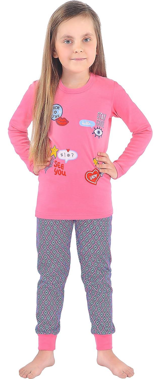 Italian Fashion IF Pijamas para niñas NancyKids 0223(Rosa, 122-128): Amazon.es: Ropa y accesorios
