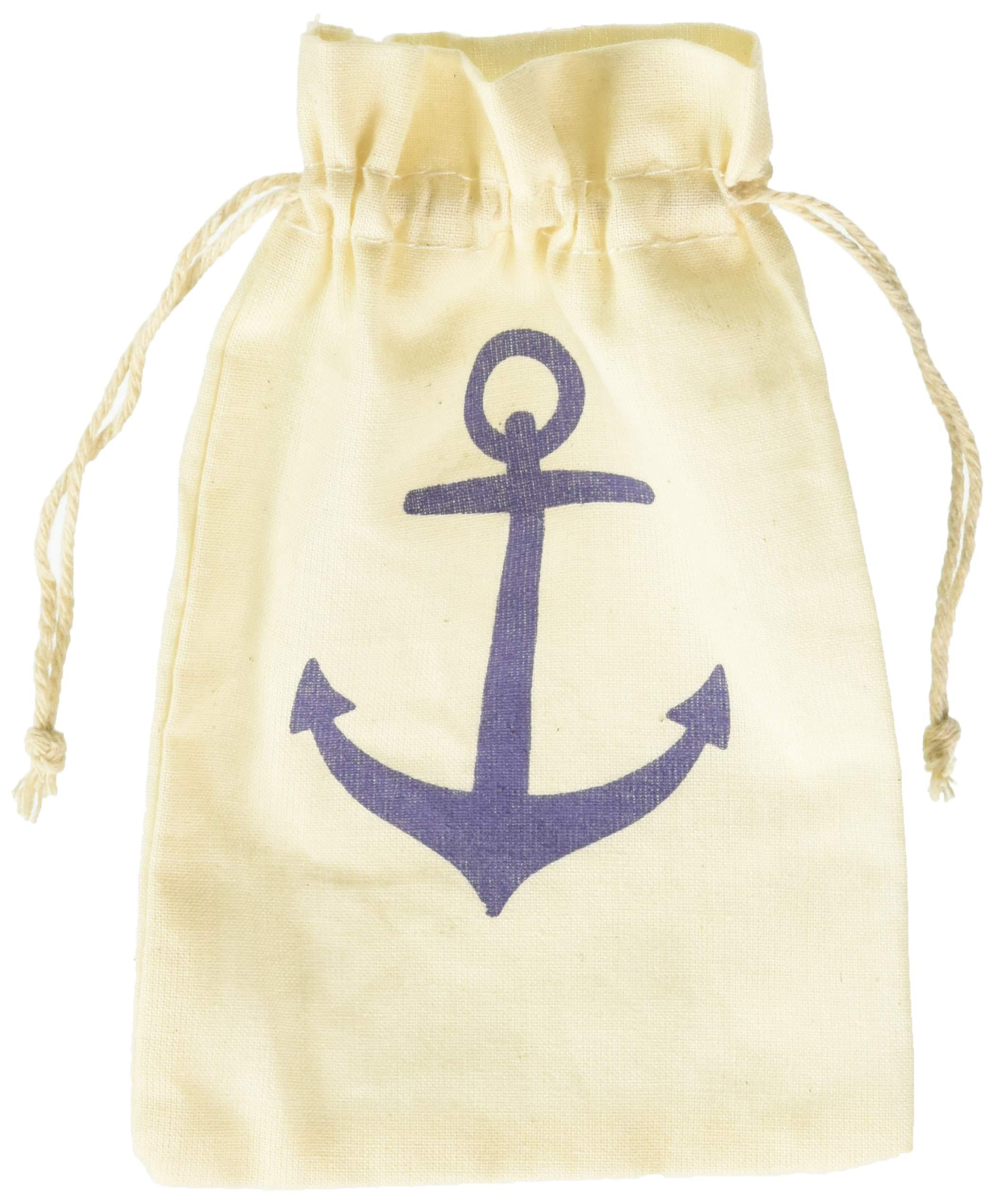 Kate Aspen ''Voyages Anchor Muslin Favor Bag, Set of 12