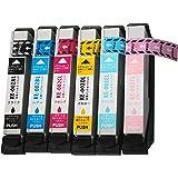 ノーブランド品 EPSON(エプソン) 高品質 純正互換インクカートリッジ IC80L(IC6CL80L) 6色セット 増量タイプ 残量表示機能付