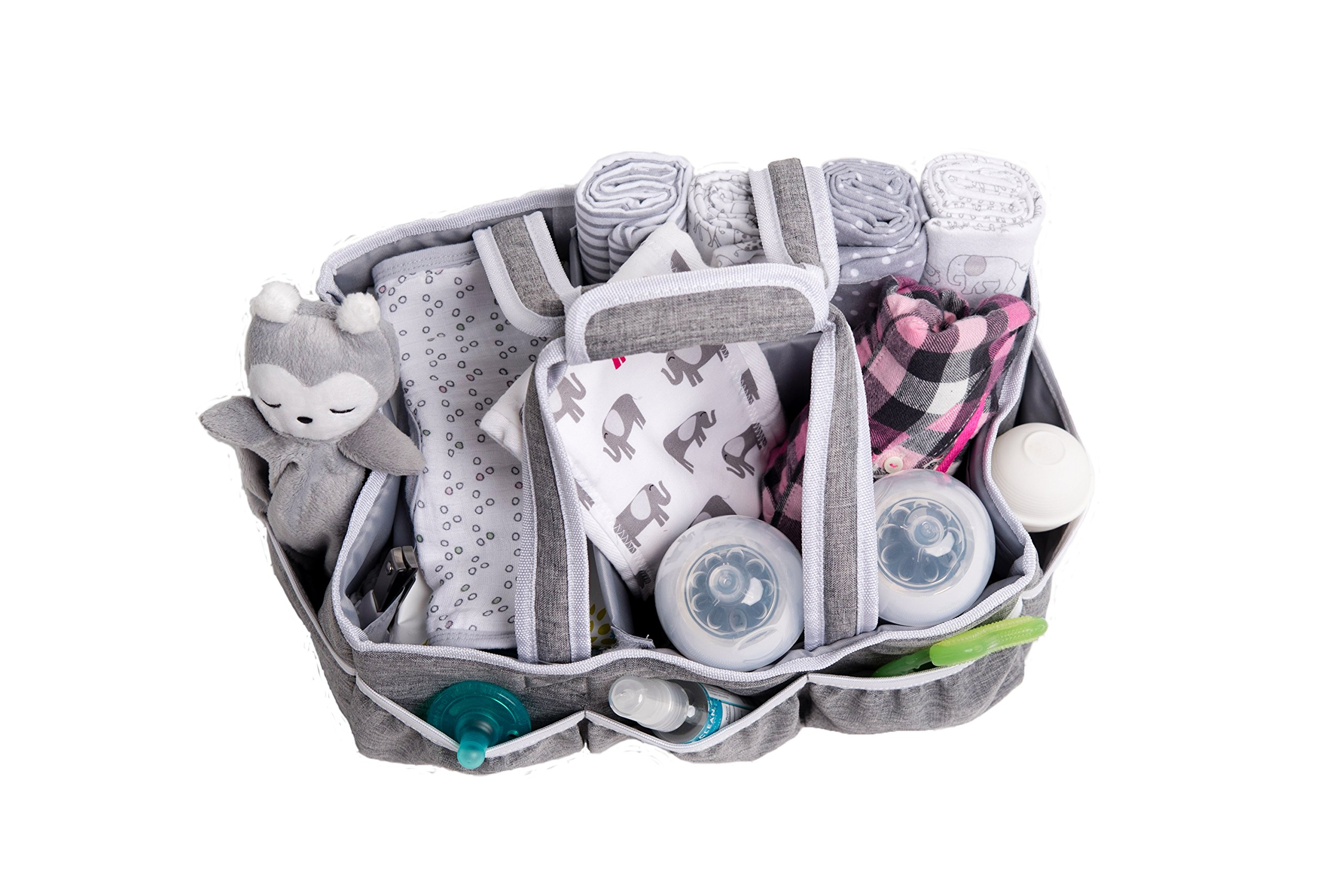 Wallaby Diaper Caddy Storage Bin - Organizer for Diapers, Wipes, Baby Bottles and More. Great for Home, Car, Travel or a Baby Shower Gift. by Bed Buddy (Image #3)