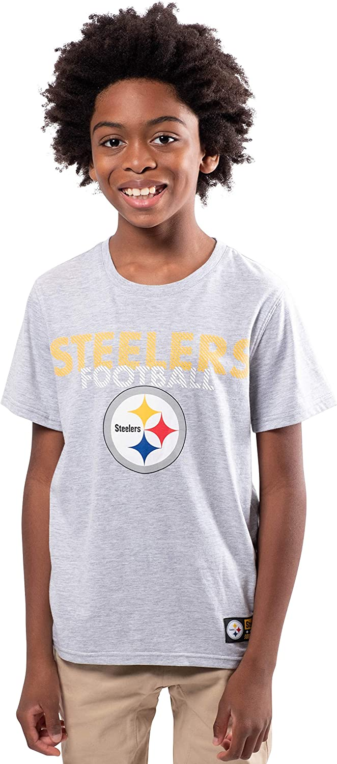 Ultra Game NFL Boys Active Crew Neck Tee Shirt