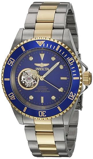 Invicta 21719 Pro Diver Reloj Unisex acero inoxidable Automático Esfera azul: Amazon.es: Relojes