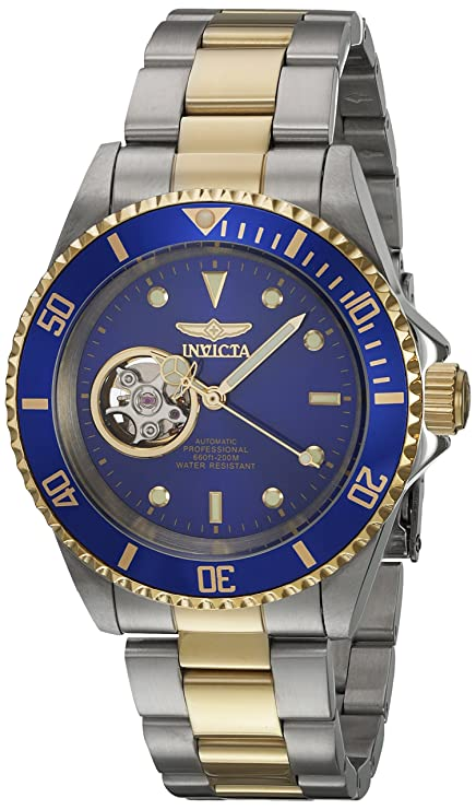 Amazon.com: Invicta Mens Pro Diver Automatic Stainless Steel Diving Watch, Color:Two Tone (Model: 21719): Invicta: Watches