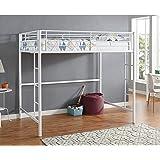 New Full Size Loft Bed-White Metal Finish