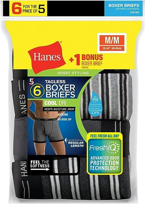 "2254 Hanes Mens 4 Pack Premium Tagless X-Temp Boxer Briefs Size Medium 32/""-34/"""