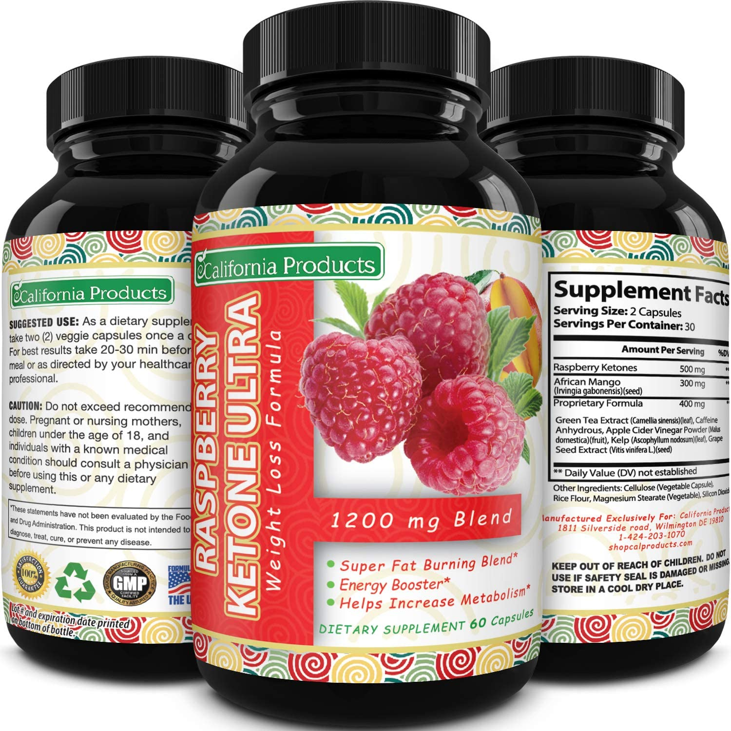 Amazon Com Blend Of Raspberry Ketones Green Tea Extract And African Mango Lose Weight Faster With Natural Ingredients To Speed Up Weight Loss Suppress Appetite
