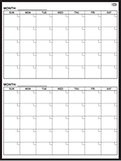Amazon.com : Magnetic 2-month Dry Erase Calendar, 36 X 48 Inches ...