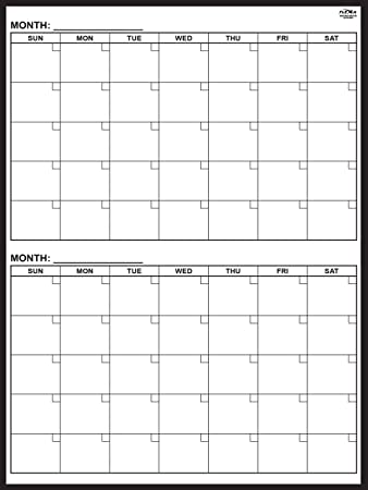 amazon com magnetic 2 month dry erase calendar 48 x 36 inches
