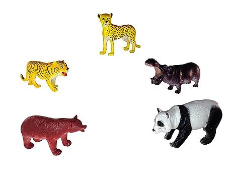 Amazon Com Set Of 5 Realistic Animal Toy Figures 6 Large
