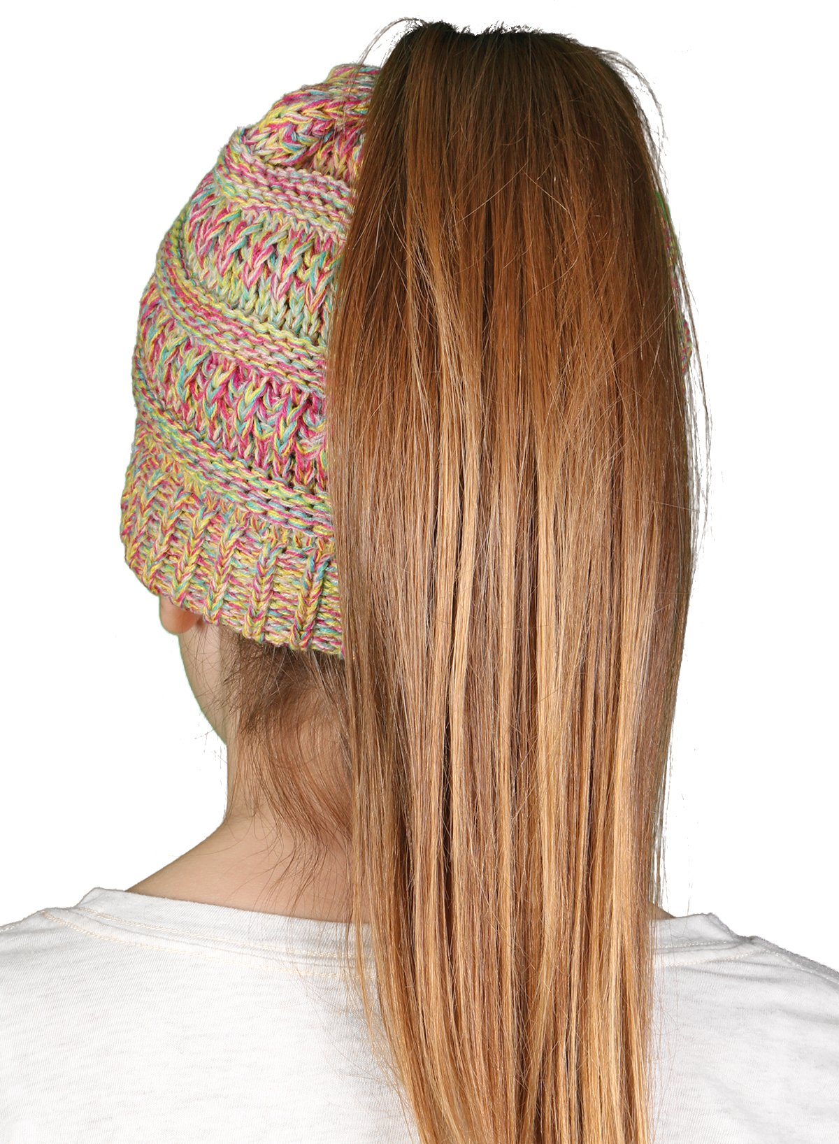 c48a0661c2c   Ponytail Messy Bun BeanieTail Soft Winter Knit Stretchy Beanie Hat Cap   9.99. Click ...