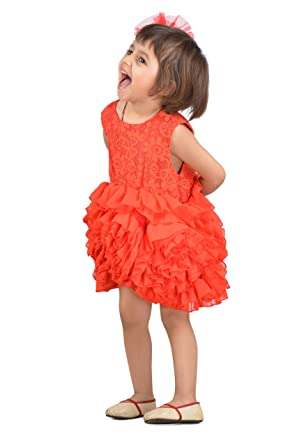 Kidsdew Red Maxi Dress For Girls Kids Birthday Gown Kids Wedding