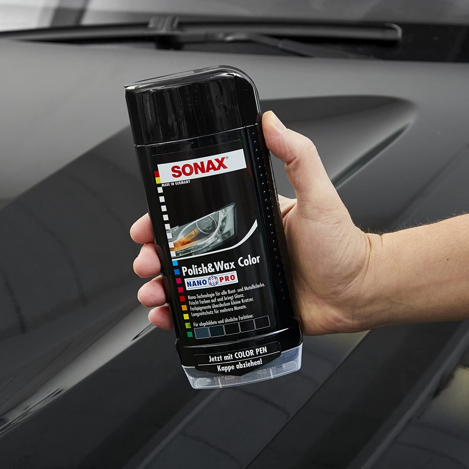 Come Lucidare La Macchina.Sonax 296100 Polish E Cera Nero 500ml Amazon It Auto E Moto
