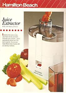 Hamilton Beach Juice Extractor with 140 Watts of Power