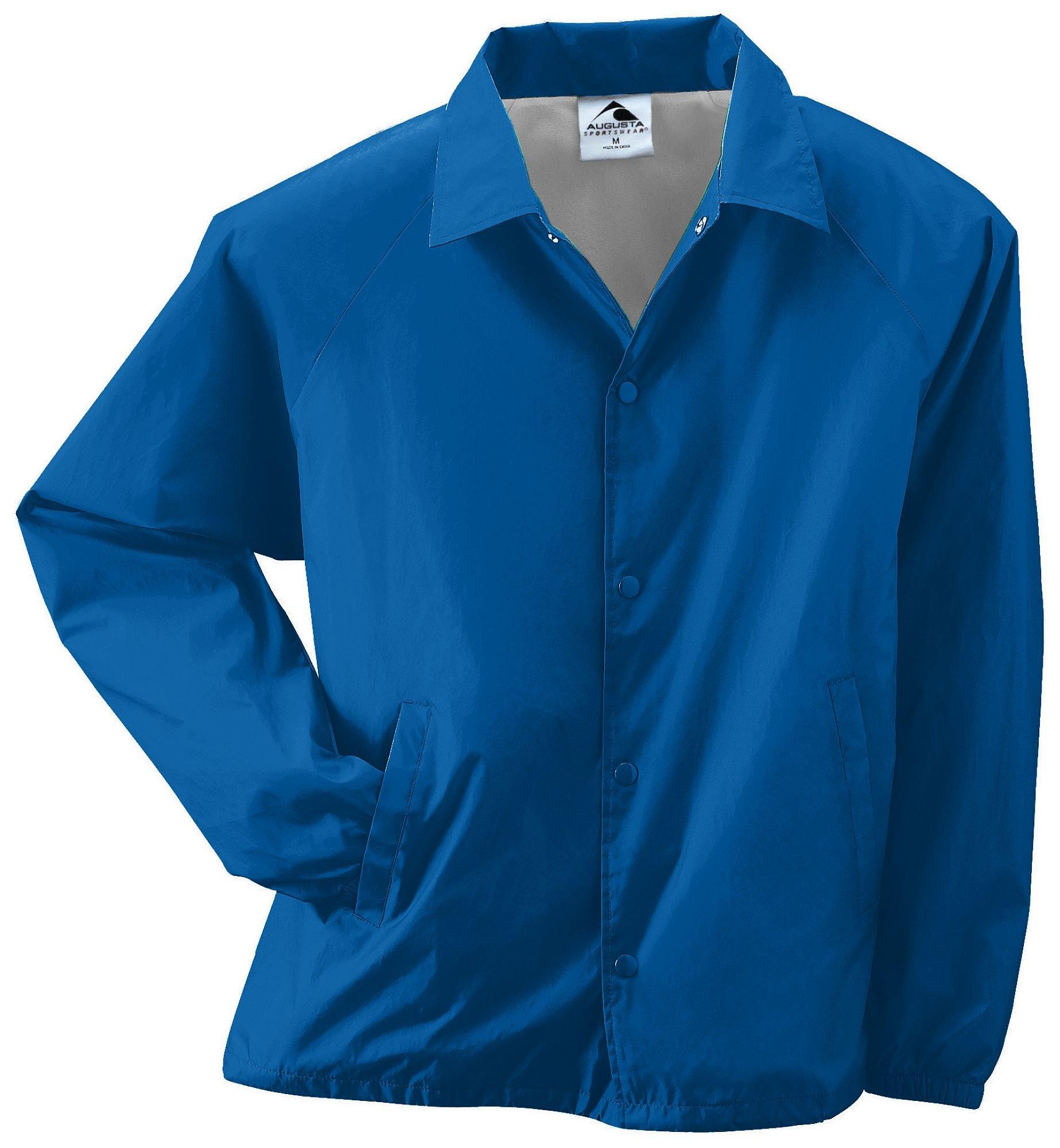 Augusta Sportswear Unisex-Adult Nylon Coach's Jacket/Lined, Royal, XX-Large